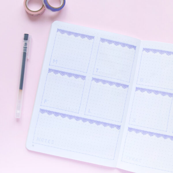 Lilac Scalloped Lace Washi Tape - Design by Willwa