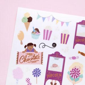 Amusement Park Treats Sticker Sheet - Design by Willwa