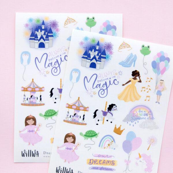 Dreamy Amusement Park Sticker Sheet - Design by Willwa