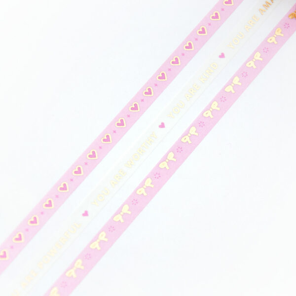 SLIM Love and Bows Washi Tape - Design by Willwa