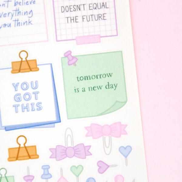 Post-It Affirmations Sticker Sheet - Design by Willwa