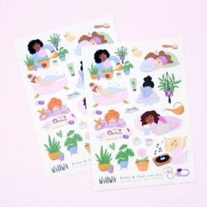 Relax & find your Joy Sticker Sheet - Design by Willwa