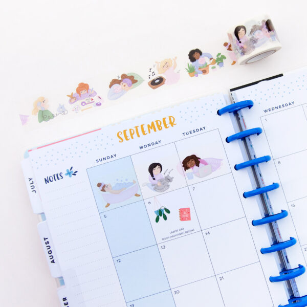 Self Care Day Washi Tape - Design by Willwa
