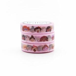 Self Care Girls Washi Tape - Design by Willwa